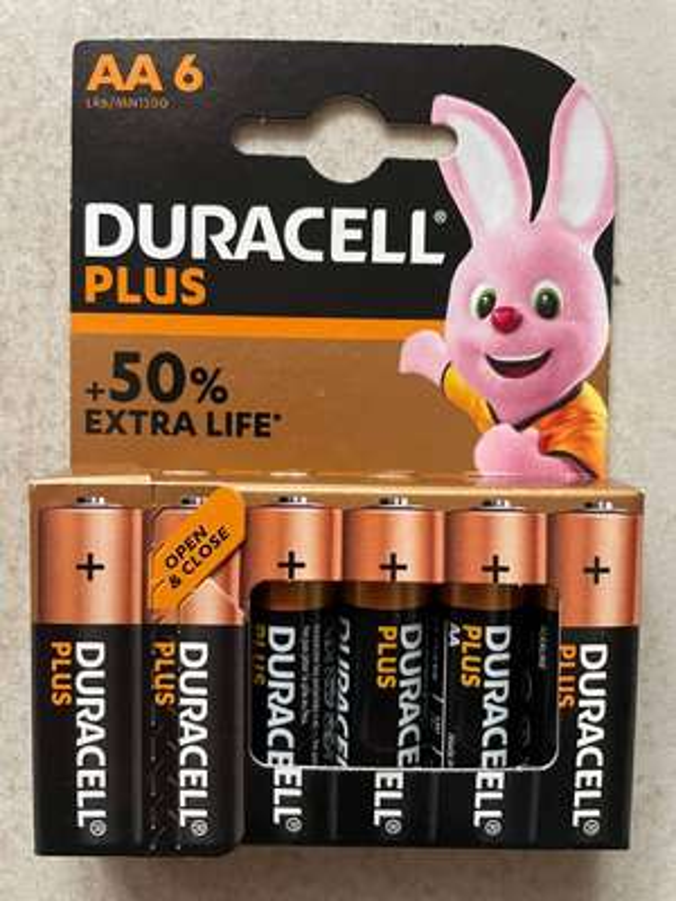 Pack de 6 piles AA Duracell Plus Extra Life - Marseille Le Merlan (13)