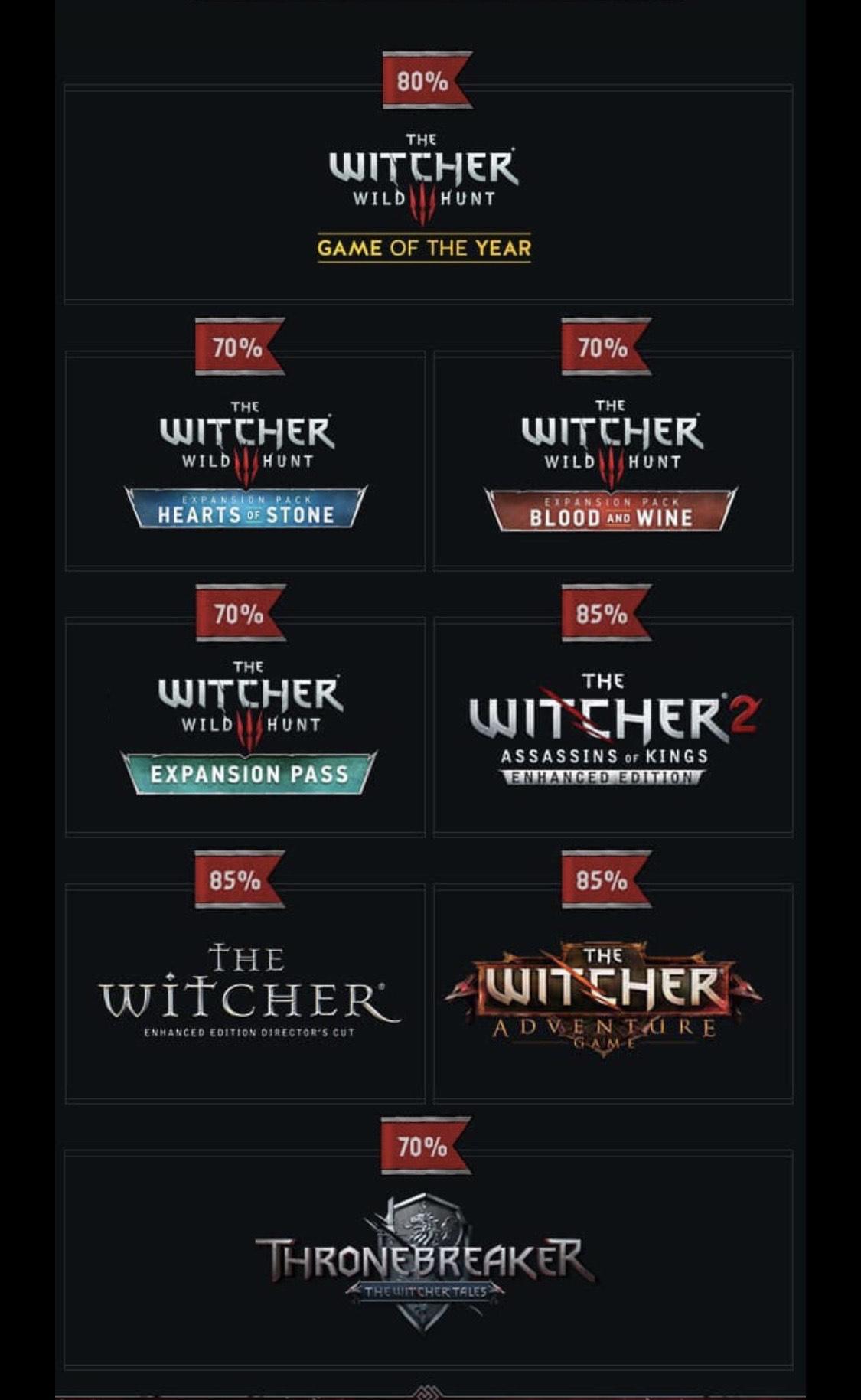 Bundle Cyberpunk 2077 + The Witcher: Enhanced + The Witcher 2: Assassins of Kings + The Witcher 3: Wild Hunt + DLCs sur PC (dématérialisés)