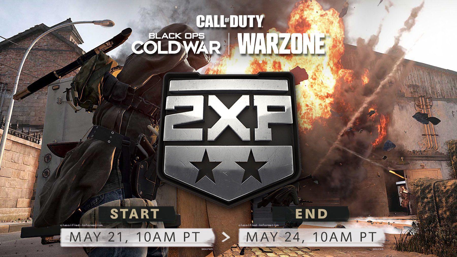 Call of Duty Black Ops Cold War & Warzone: Double XP gratuit ce week-end sur PC, Xbox & PlayStation (Dématérialisé)