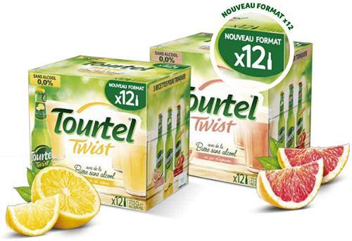 Pack de 12 bières sans alcool Tourtel Twist - différents parfums (via BDR)