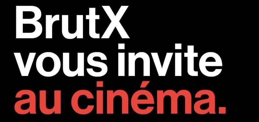2 places de cinéma PathéGaumont offertes en vous abonnant à BrutX (sans engagement)