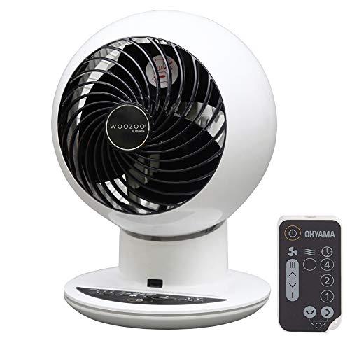 Ventilateur de table Iris Ohyama Woozoo PCF-SC15T - avec télécommande, blanc
