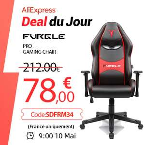 Chaise de bureau Furgle Pro Gaming Chair (entrepôt CZ)