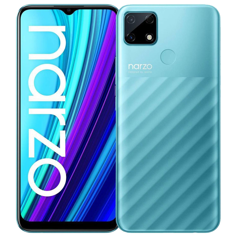 "Smartphone 6.5"" Realme Narzo 30A - HD+, Helio G85, 4 Go de RAM, 64 Go, bleu (vendeur tiers)"