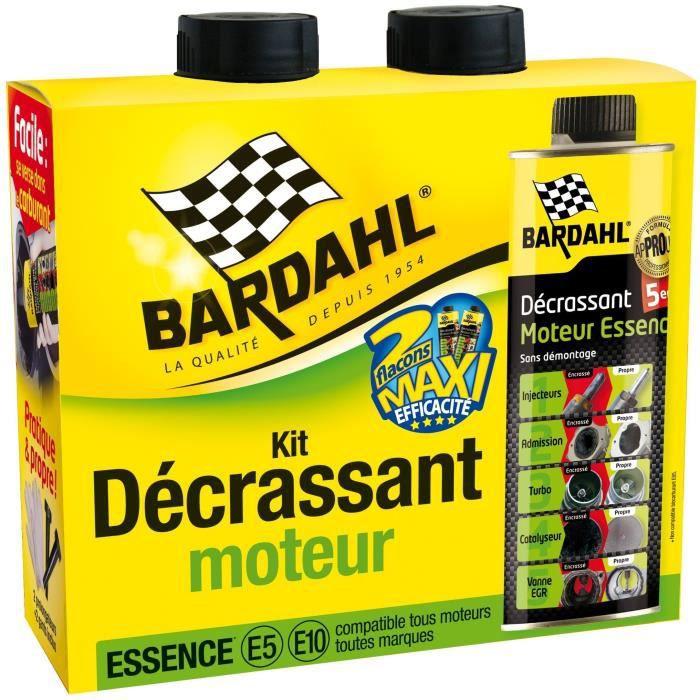 Pack décrassant moteur Bardahl Essence E5 / E10 5-en-1