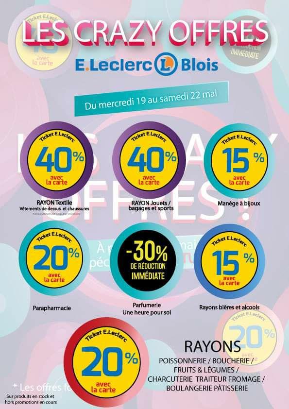 40% offerts tickets leclerc sur les jouets - Blois (41)