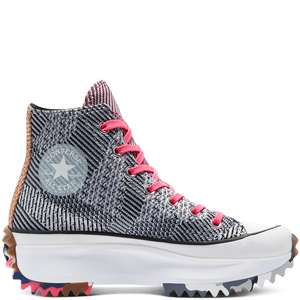 Chaussures montantes Converse Run Star Hike Knit Mashup - gris/rose (du 35 au 44)