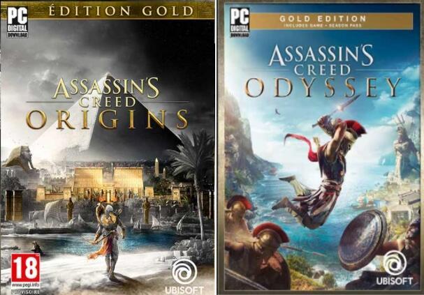 Assassin's Creed Origins Gold à 9,79€ & Odyssey Gold Edition à 14,99€ sur PC (Dématérialisés)