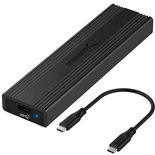 Boîtier Sabrent USB 3.2 Type-C pour SSD M.2 PCIe NVMe et SATA (vendeur tiers)