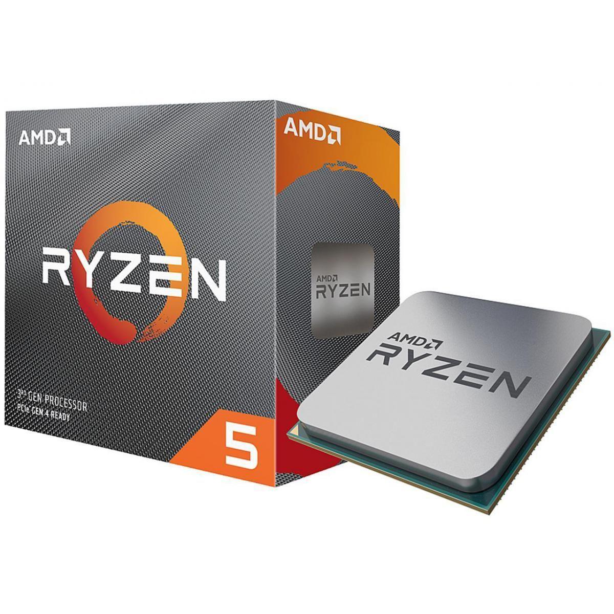 Processeur AMD Ryzen 5 3600 - 3,6 GHz, Sans ventirad (136.19 avec le code AEFD2110)