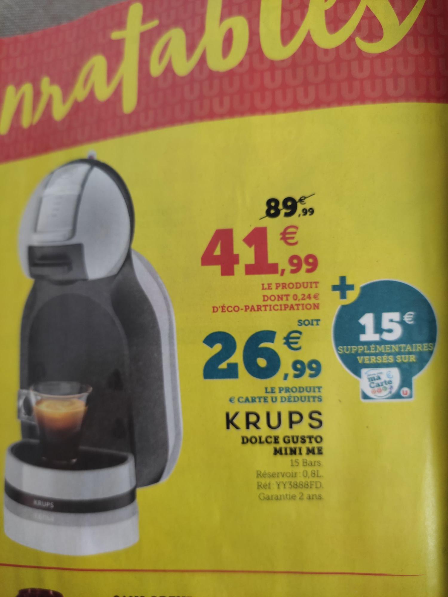 Machine à café Dolce Gusto mini me Krups - Super U