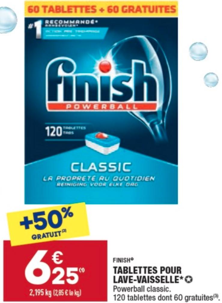 Paquet de tablettes lave vaisselle Finish Powerball classic - 120 tablettes