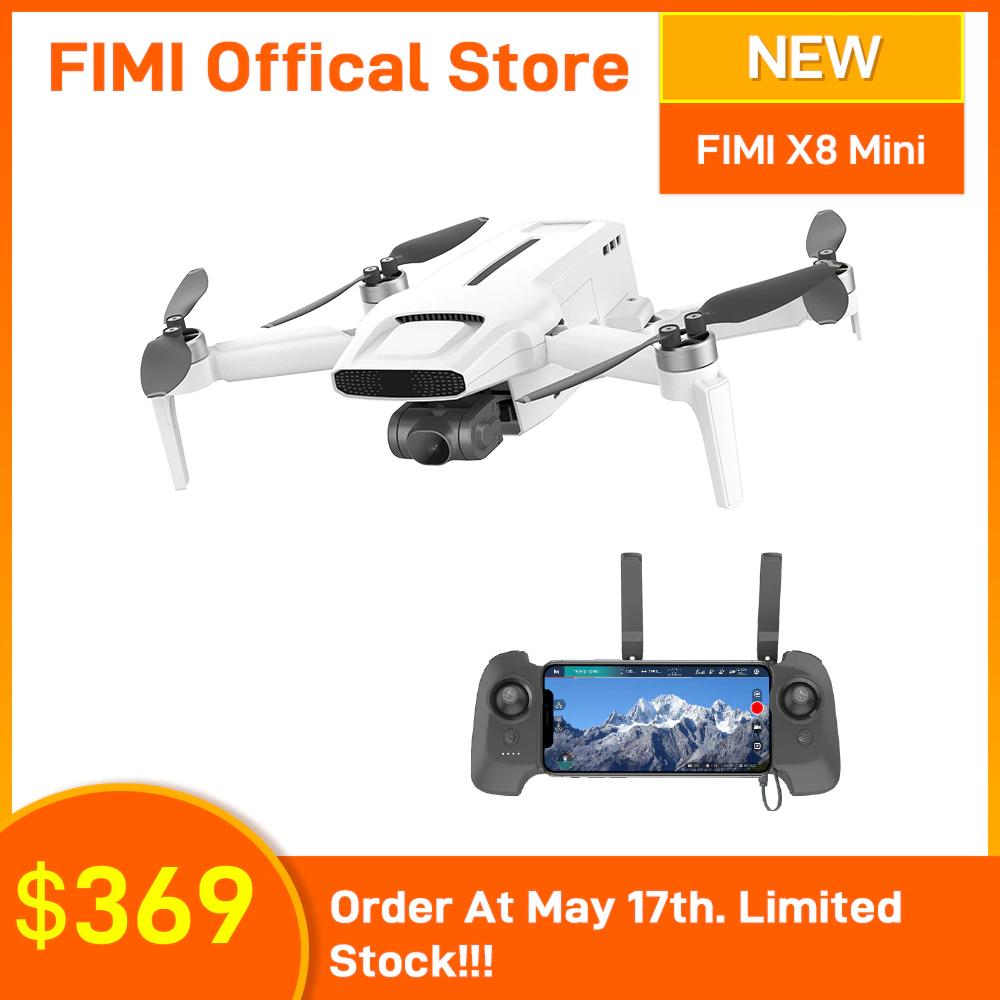 Drone quadricoptère RTF Fimi X8 Mini - GPS, avec caméra 4K UHD, stabilisation 3 axes, blanc