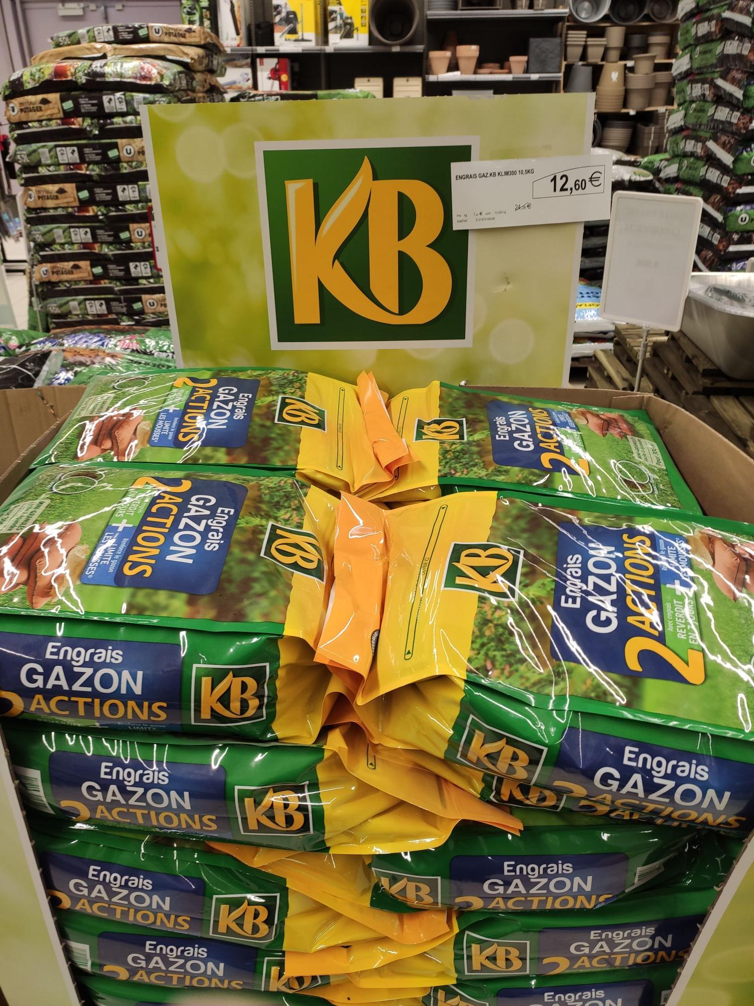 Sac d'engrais gazon KB 2 Actions (10 kg) - Briey (54)