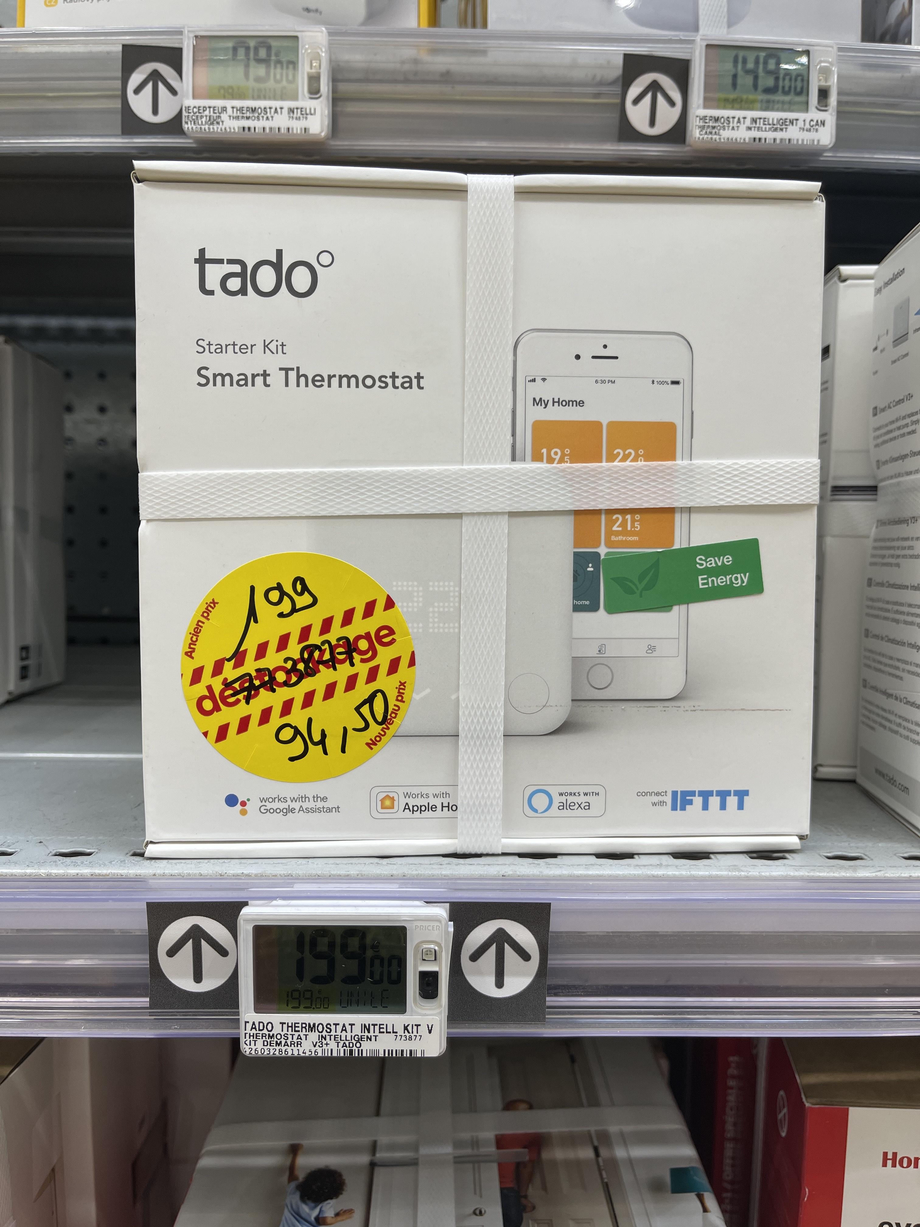 Kit de Démarrage tado° Thermostat Connecté et Intelligent sans fil - Cannet (06)