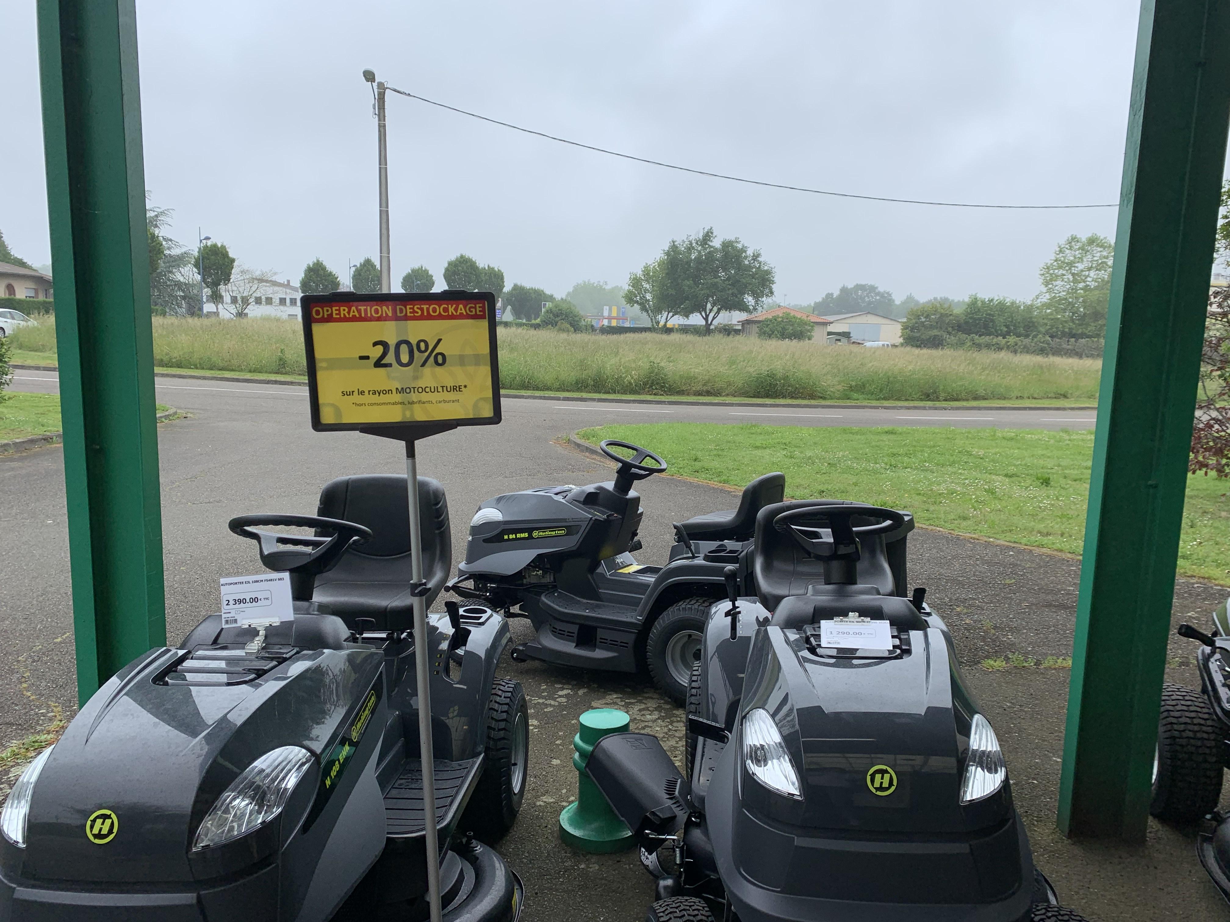 20% de réduction sur le rayon motoculture (hors exceptions) - Grenade Sur Adour (40)