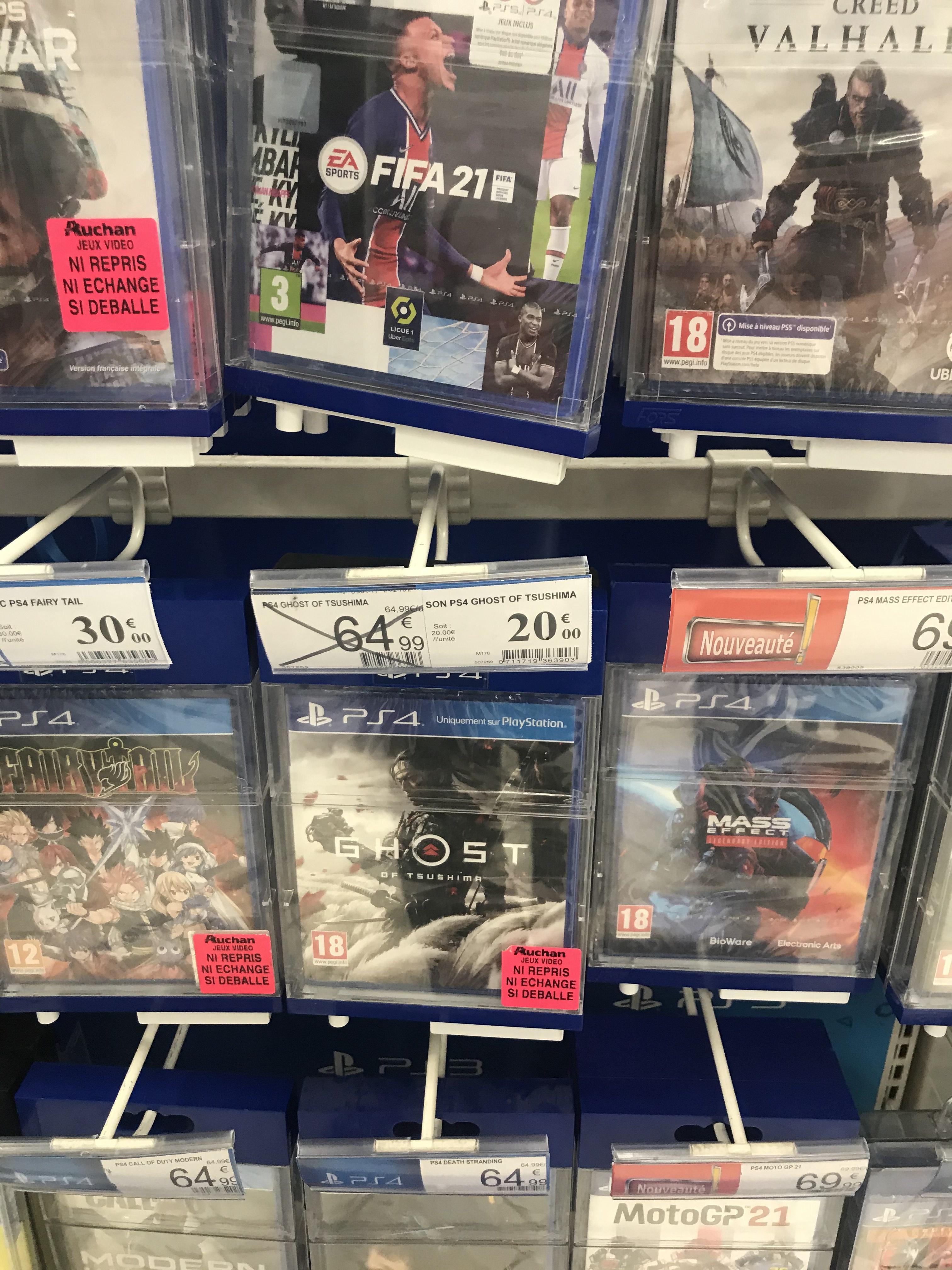 Sélection de jeux vidéo en promotion - Ex : Ghost of Tshushima sur PS4 à 20€- Toulouse Balma (31)