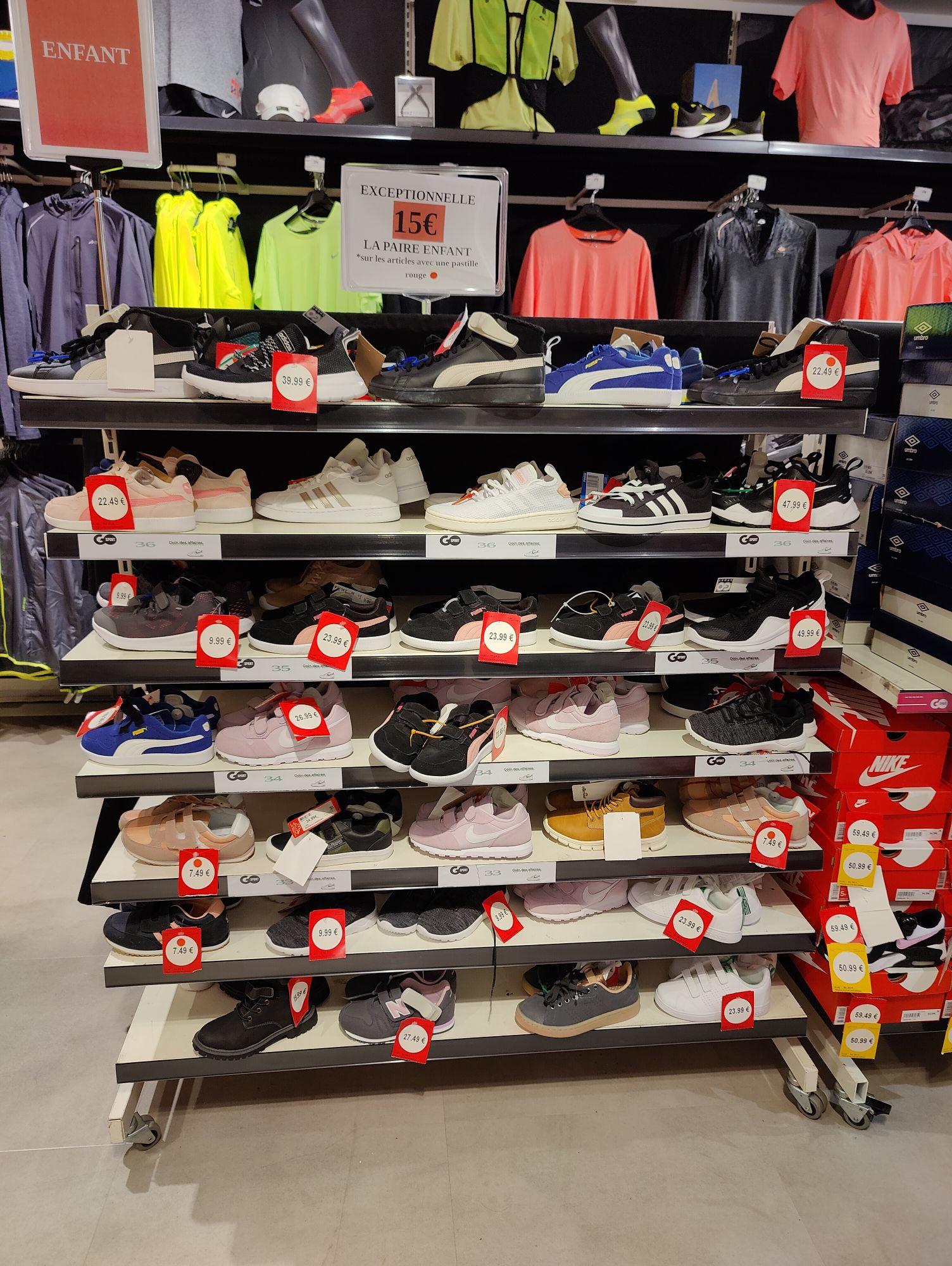Sélection de paires de chaussure enfant à 15€ - GoSport Noyelle Godault (59)