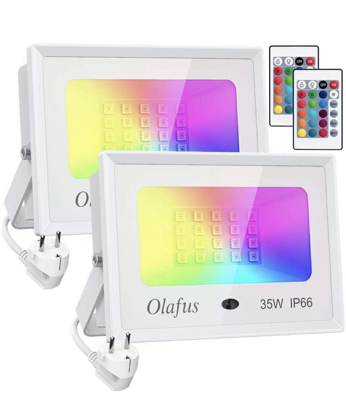 Lot de 2 Projecteurs leds Olafus - 35W (vendeur tiers)