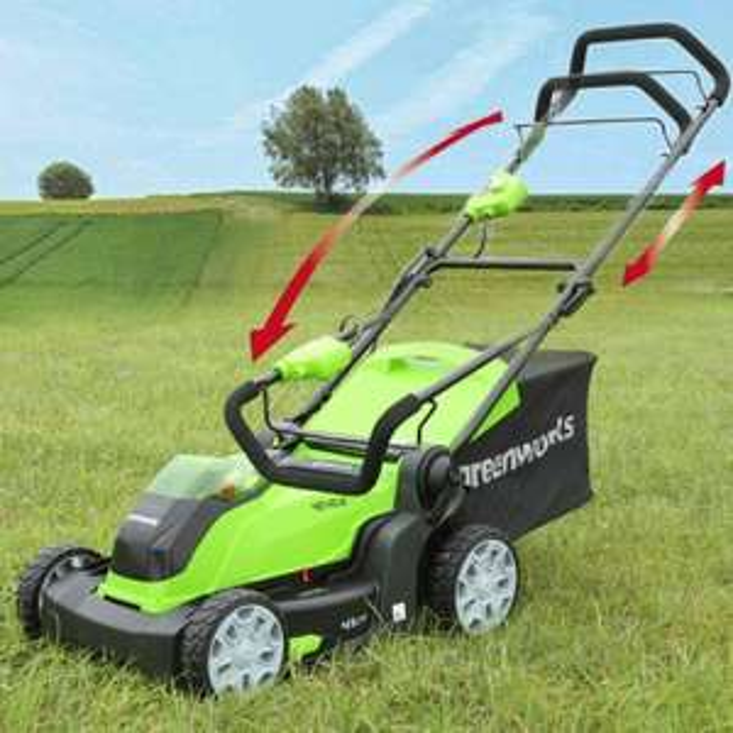 Tondeuse à batterie Greenworks G40LM41 - 40V, coupe 41 cm (sans batterie ni chargeur)