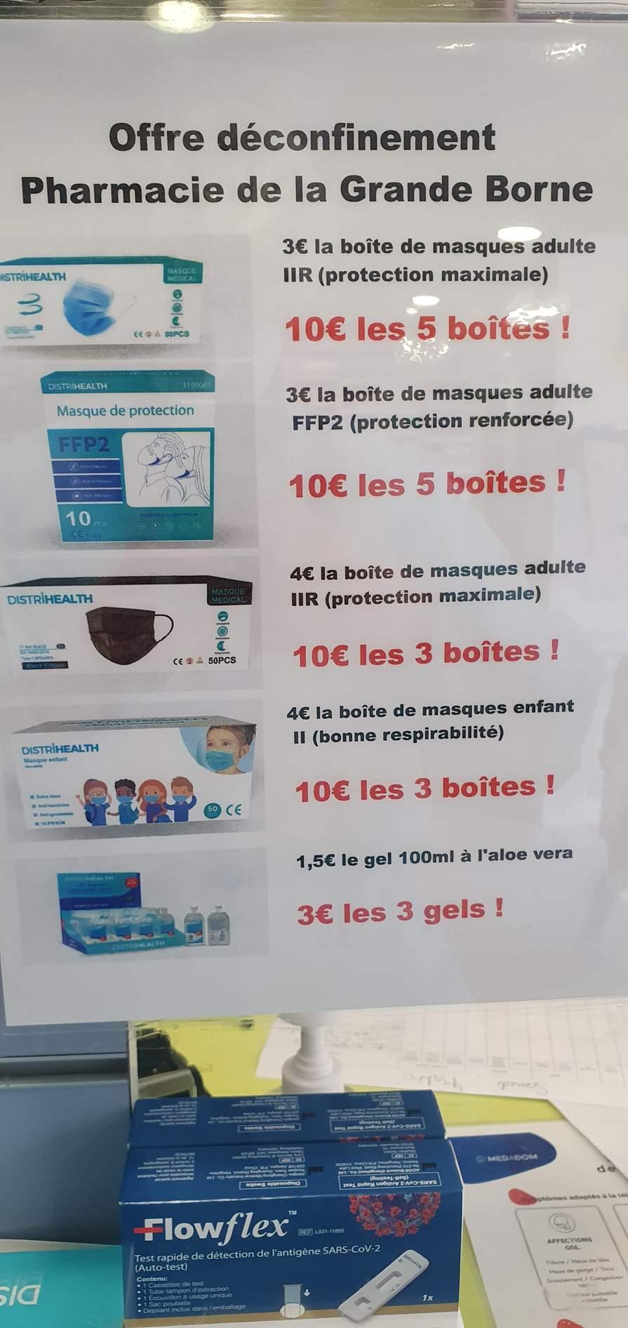 Sélection de produits en promotion - Ex : Lot de 3 gels hydroalcoolique à l'aloe vera (3 x 100ml) - Pharmacie place aux herbes Grigny (91)