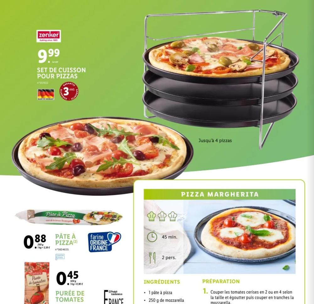 Set de cuisson pour pizzas Zenker - Jusqu'à 4 pizzas