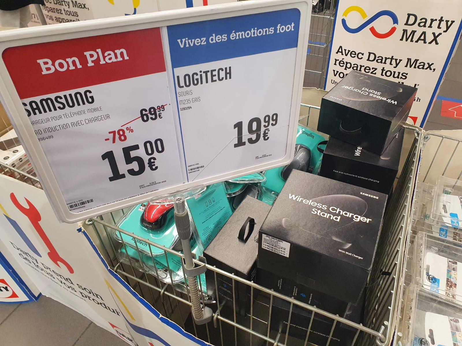 Chargeur rapide à induction Samsung EPN5100T gratuit (via ODR de 15€) - Darty La Valentine de Marseille (13)