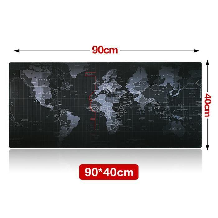 Tapis de souris Carte du monde - 90x40 cm (Vendeur tiers)
