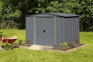 Abri de jardin en métal Arrow - 4,4 m², Gris