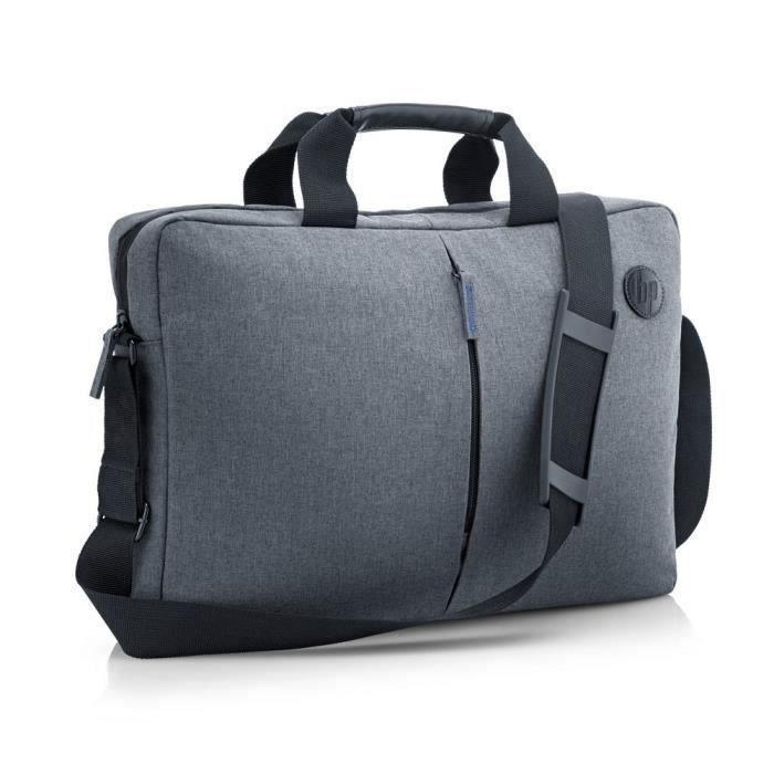 """Sacoche HP Essential pour PC Portable - Jusqu'à 15.6"""", Résistante à l'eau, Grise"""