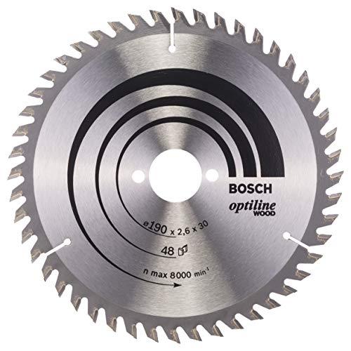 Lame de scie circulaire Bosch Optiline Wood - 190 x 30 x 2.6, 48 dents