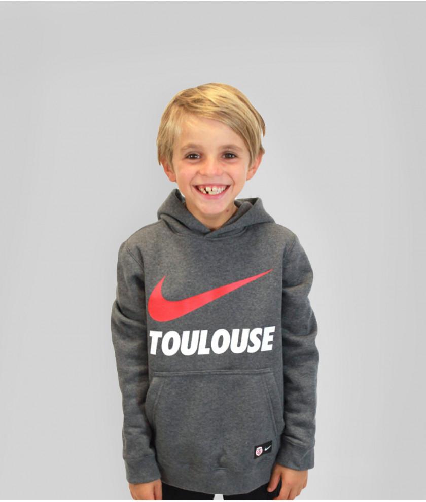 Sweatshirt à capuche Nike Swoosh TLSE enfant - Taille XS (boutique.stadetoulousain.fr)