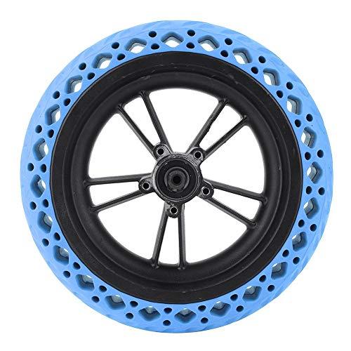 Kit pneu arrière perforé bleu + Jante alu T best pour Trottinette électrique Xiaomi M365 (Vendeur tiers)