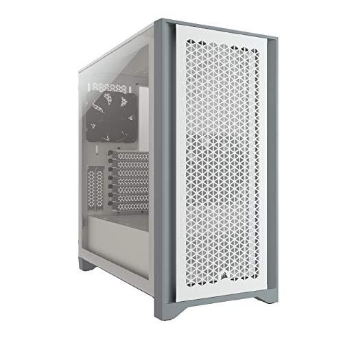 Boîtier PC Corsair 4000D Airflow - ATX, Fenêtre en verre trempé, Blanc ou Noir