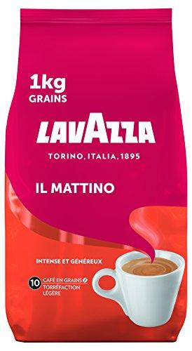 Café en Grains Lavazza Il Mattino Robusta - Torréfaction Légère, Paquet de 1kg