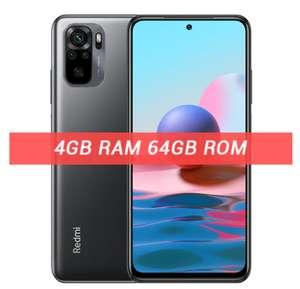"Smartphone 6.43"" Xiaomi Redmi Note 10 (Global) - SnapDragon 678, 4 Go RAM, 64 Go (Gris) - Entrepôt France"