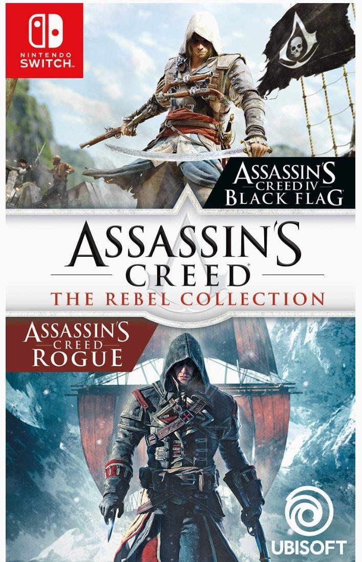 Compilation Assassin's Creed : The Rebel Collection (Black Flag + tous les DLC et Rogue Remastered + tous les DLC) sur Nintendo Switch