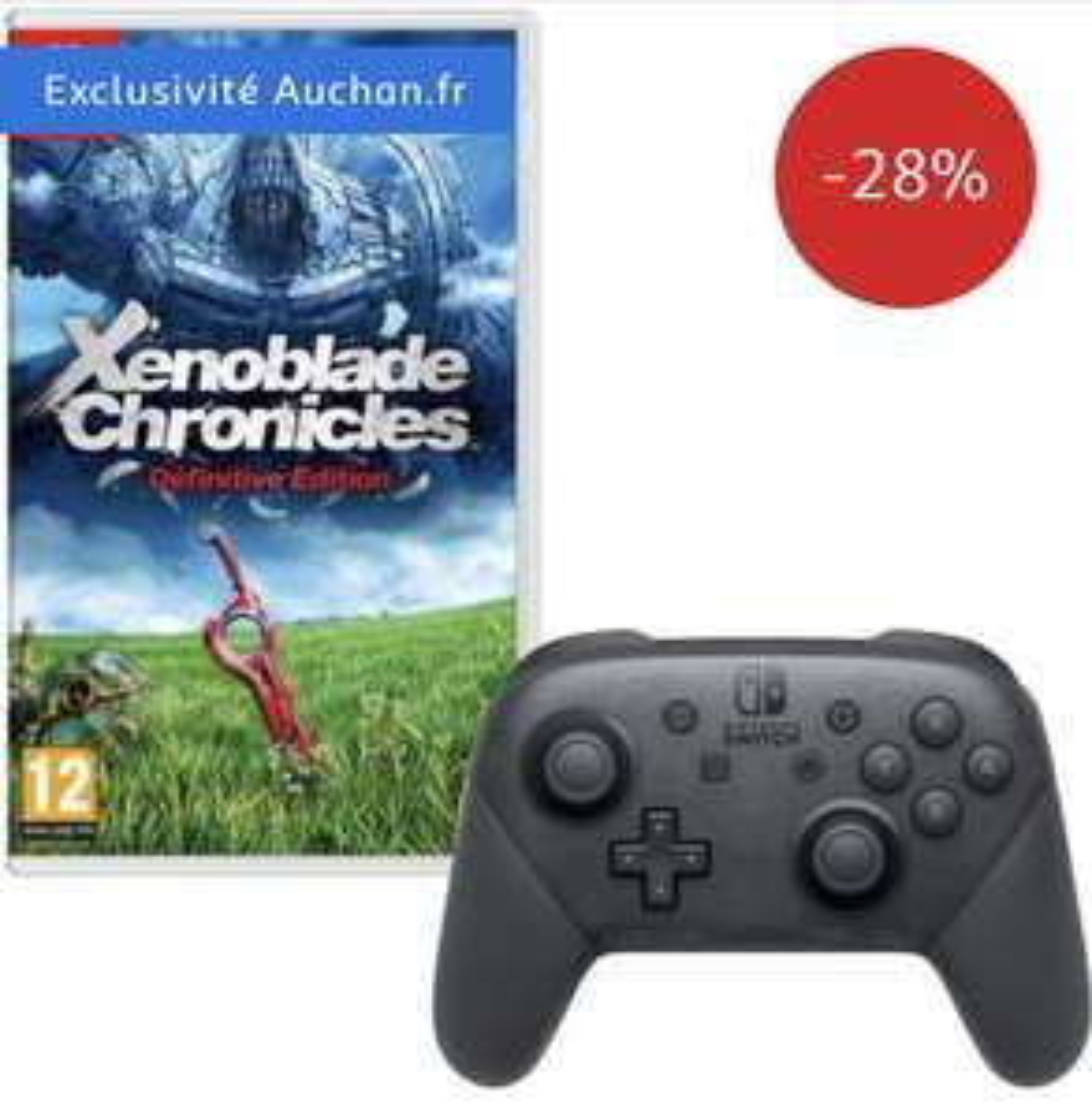 Pack Manette Nintendo Switch Pro + Jeu Xenoblade Chronicles sur Nintendo Switch