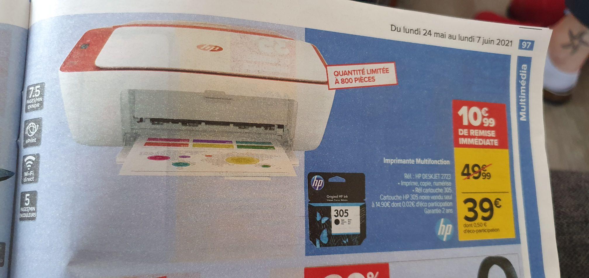 Imprimante jet d'encre multifonctions HP Deskjet 2723 - WiFi