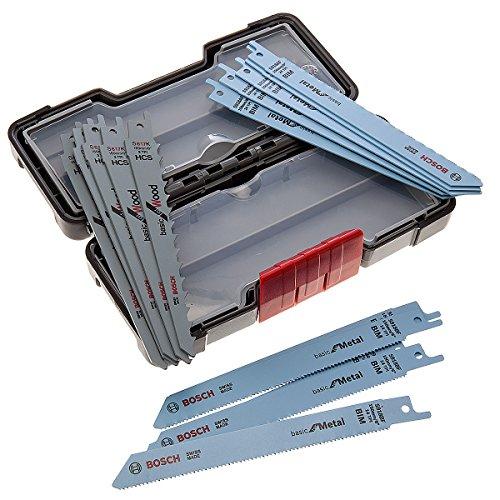 Set de 15 Lames de scie sabre Bosch bois et métal Bosch 2607010901