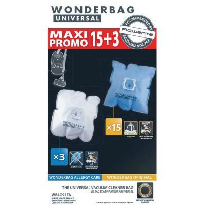 18 Sacs aspirateur Rowenta Wonderbag Universal.