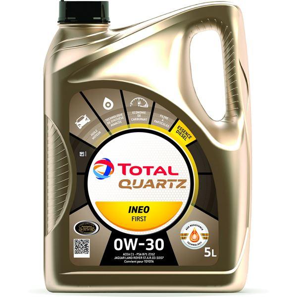Bidon d'huile moteur Total Quartz Ineo First Essence/Diesel 0W30 (5 L) - magasins participants