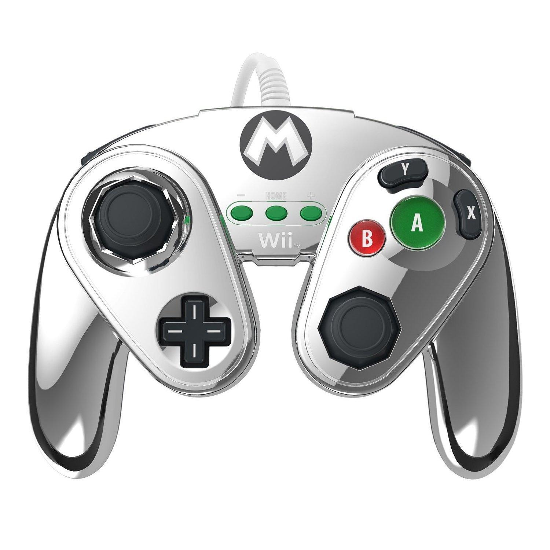 Manette fight pad pdp pour Wii U - Metroid Samus ou Edition Limitée Mario Métal