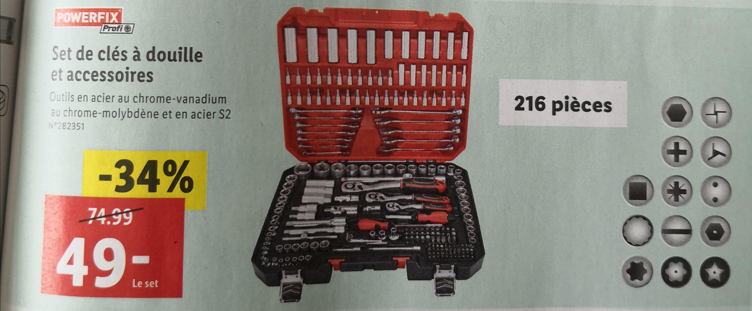 Set de clés à douilles et accessoires - Ambares (33)