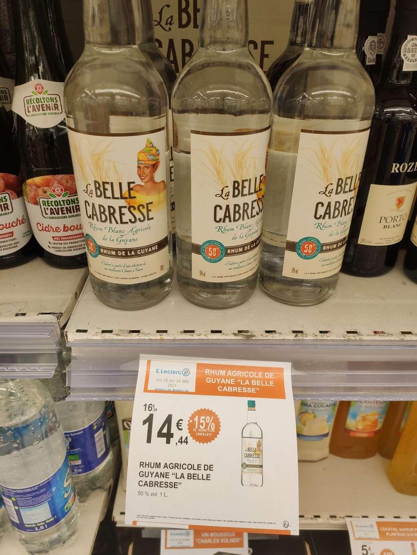 Bouteille de rhum agricole de La Guyane La belle Cabresse (1 L) - Meaux (77)