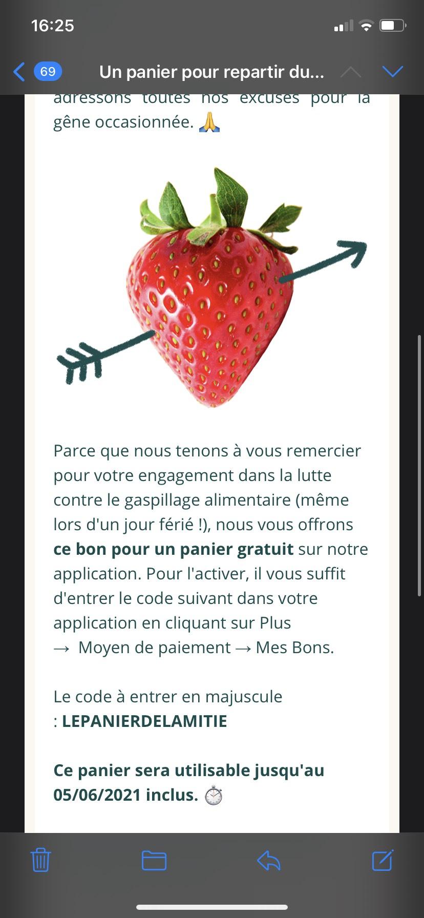 Panier anti-gaspillage gratuit dans une sélection de magasins (3.99€ max.) - TooGoodtoGo.fr