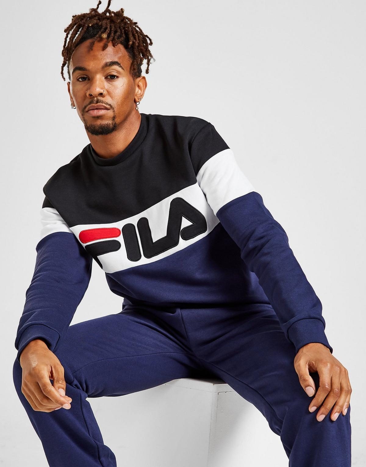 Sweat-shirt Fila Marrow Colour Block Crew - Taille S