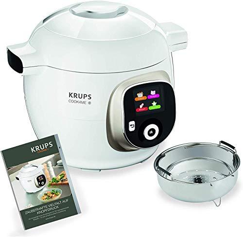 Robot cuiseur Krups Cook4Me+ CZ7101 - 6L, 1600 W, blanc