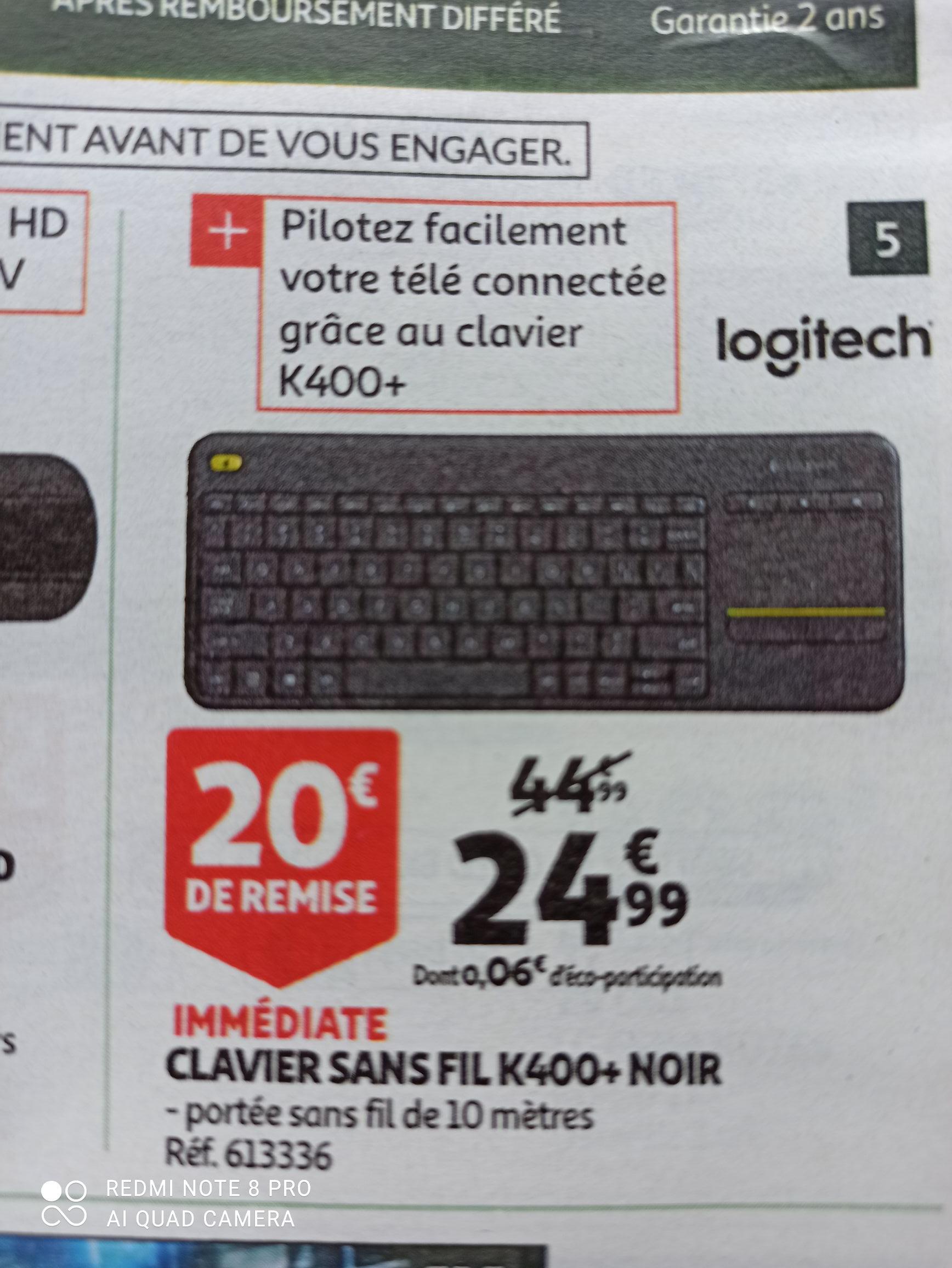 Clavier sans fil Logitech K400+