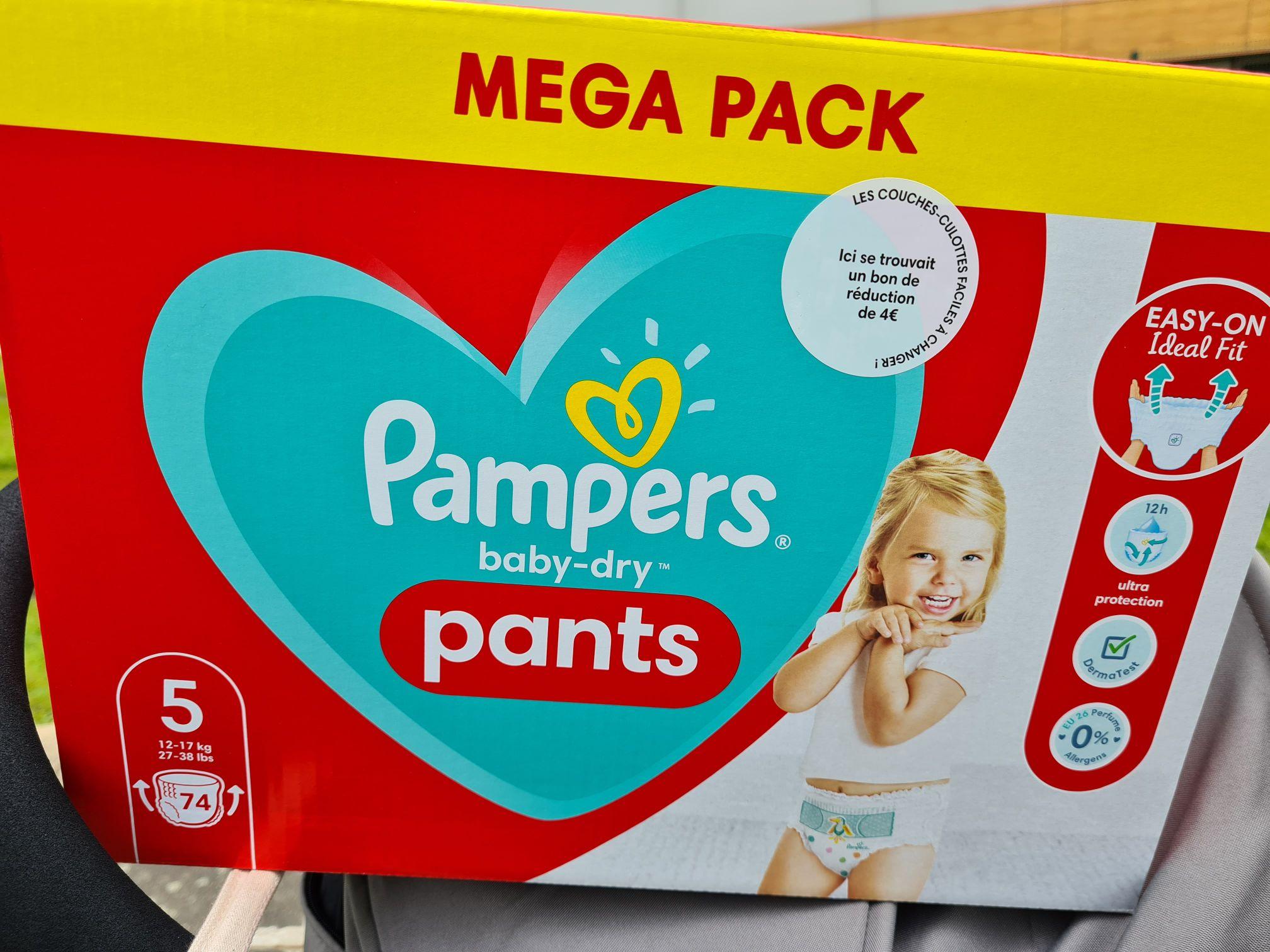 Paquet de 74 Couches Pampers Pants Taille 5 (Via 4€ BDR + 16,46€ Fidélité) - Le mans (72)
